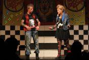 The baddies! Crochet (Niall Finucane) and Siren (Katie Ryan)